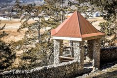 Stone Gazebo at Phelps Park in Decorah, Iowa Royalty Free Stock Photography