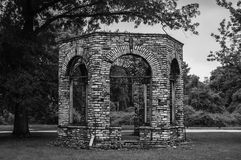Stone Gazebo. Ruins at Fort Belle Fontaine MO Royalty Free Stock Image