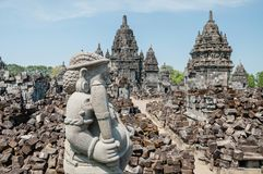 The stone giant. At the temple in Indonesia Royalty Free Stock Photos