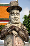 Stone giant in Wat Pho Stock Photography