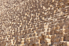 Stone of Giza pyramid, Egypt Stock Photography