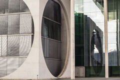 Stone and glass parliament building in Berlin Stock Photography
