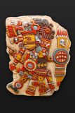 Stone god Tezacatlipoca Royalty Free Stock Images