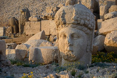 Stone Goddess head on Mount Nemrut Royalty Free Stock Image
