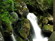 Stone gorge and waterfalls in Austria Royalty Free Stock Photo