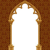 Stone gothic gate with classic decorative background Royalty Free Stock Photos