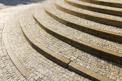 Stone granite stairway Royalty Free Stock Photography