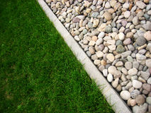 Stone and grass Royalty Free Stock Image