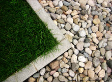 Stone and grass Royalty Free Stock Photography