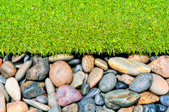 Stone and grass decor Stock Images
