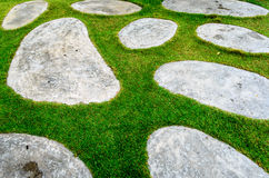 Stone and Grass Texture. The Stone and Grass Texture Stock Photos