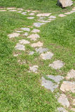 Stone and Grass walkway. Stones in the grass walkway Stock Image