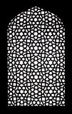 Stone grating at Humayun's Tomb in New Delhi, India Royalty Free Stock Image