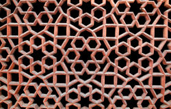 Stone grating at Humayun's Tomb in New Delhi, India Stock Images
