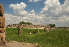 Stone grave Stock Image