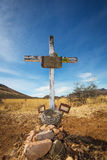 Stone Grave with Blank Frame Royalty Free Stock Image
