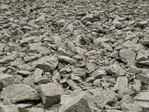 Stone and gravel on mountain Royalty Free Stock Photography