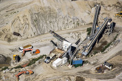 Stone and Gravel Quarry Royalty Free Stock Photography