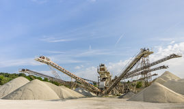 Stone and Gravel Quarry Royalty Free Stock Photo