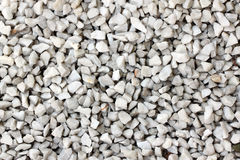 Stone of gravel on the walkway in garden. Royalty Free Stock Photos