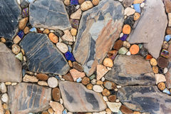 Stone and gravel wall Royalty Free Stock Photo