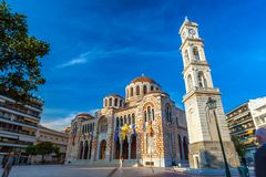 Cathedral Church of St. Nicholas, Volos, Greece - April 2017. Royalty Free Stock Photos