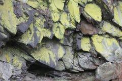 Stone green wall in Czech Republic royalty free stock photo