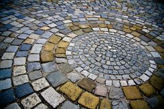 Stone ground blocks Stock Images