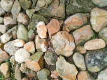 Stone ground. Rough walk way stock photo