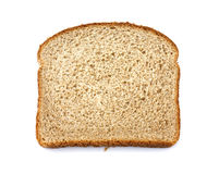 Stone ground whole wheat bread slice Stock Photography