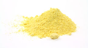 Stone ground yellow corn meal Stock Photo