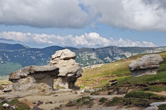 Stone group in Bucegi Mountains Stock Photography