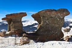 Stone group in Carpathian Mountains Stock Photo