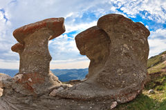 Stone group in Carpathian Mountains Stock Image