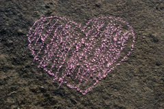 Stone grunge heart Royalty Free Stock Photography