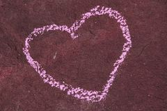 Stone grunge heart Stock Image