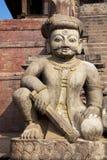 Stone Guardian, Bhaktapur, Nepal Stock Image