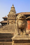 Stone Guardian, Bhaktapur, Nepal Stock Images