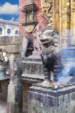 Stone Guardian at Changu Narayan Temple, Nepal Royalty Free Stock Photography