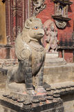 Stone Guardian at Changu Narayan Temple, Nepal royalty free stock images