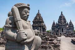 The stone guardian. The stone giant at the brahmanisms temple in Indonesia Stock Images
