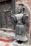 Stone Guardian, Royal Palace of Bhaktapur, Nepal Stock Photos