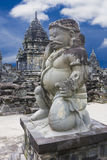 Stone Guardian at Sewu Temple, Indonesia Stock Image