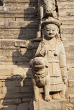Stone Guardians, Bhaktapur, Nepal Stock Photography