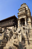 Stone Guardians, Bhaktapur, Nepal Stock Photo