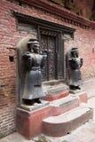 Stone Guardians, Royal Palace of Bhaktapur, Nepal Royalty Free Stock Photography