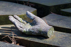 Stone hand Royalty Free Stock Photography
