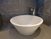 Stone hand wash basin Royalty Free Stock Images