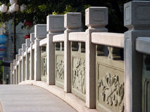 Stone handrail. Of a bridge in guangzhou china Royalty Free Stock Images
