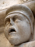 Stone head. Detail on st James cathedral in Sibenik, Croatia Royalty Free Stock Photography